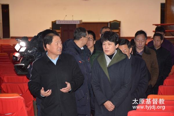 副省长曲孝丽同志到山西省基督教两会视察调研